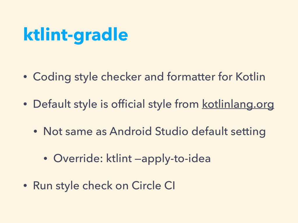 ktlint-gradle • Coding style checker and format...