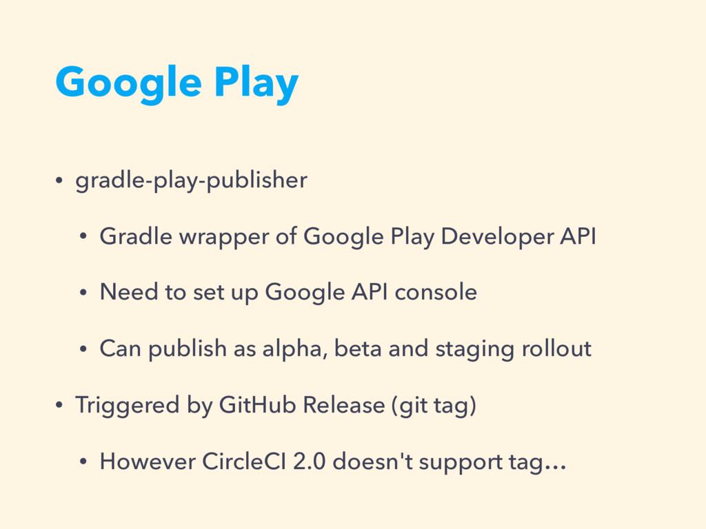 Google Play • gradle-play-publisher • Gradle wr...