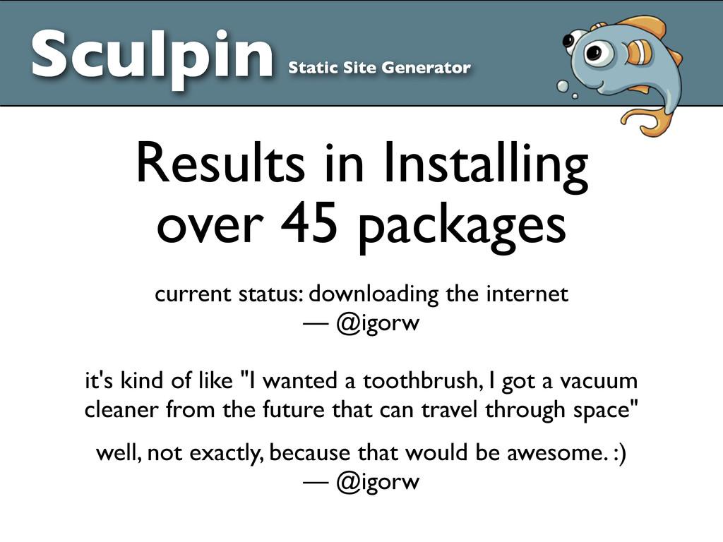 Sculpin Static Site Generator Results in Instal...