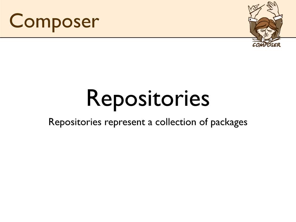 Repositories Repositories represent a collectio...