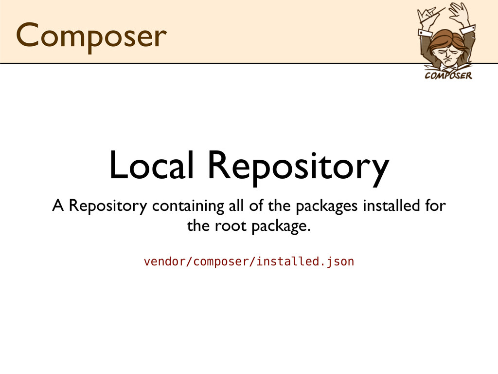 Local Repository A Repository containing all of...