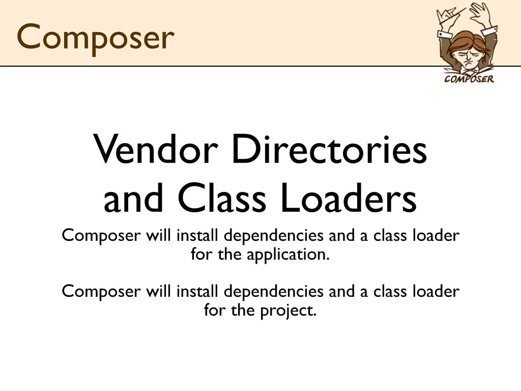 Vendor Directories and Class Loaders Composer w...