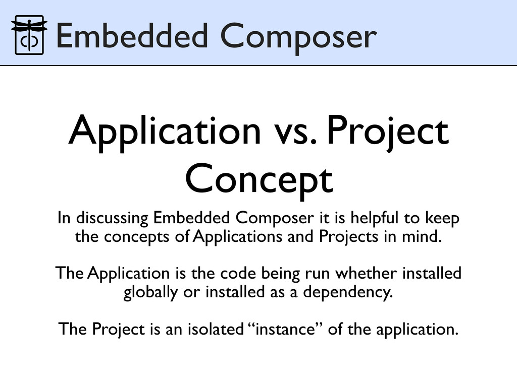 Application vs. Project Concept In discussing E...