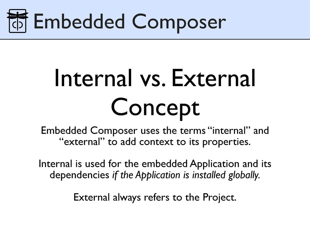 Internal vs. External Concept Embedded Composer...