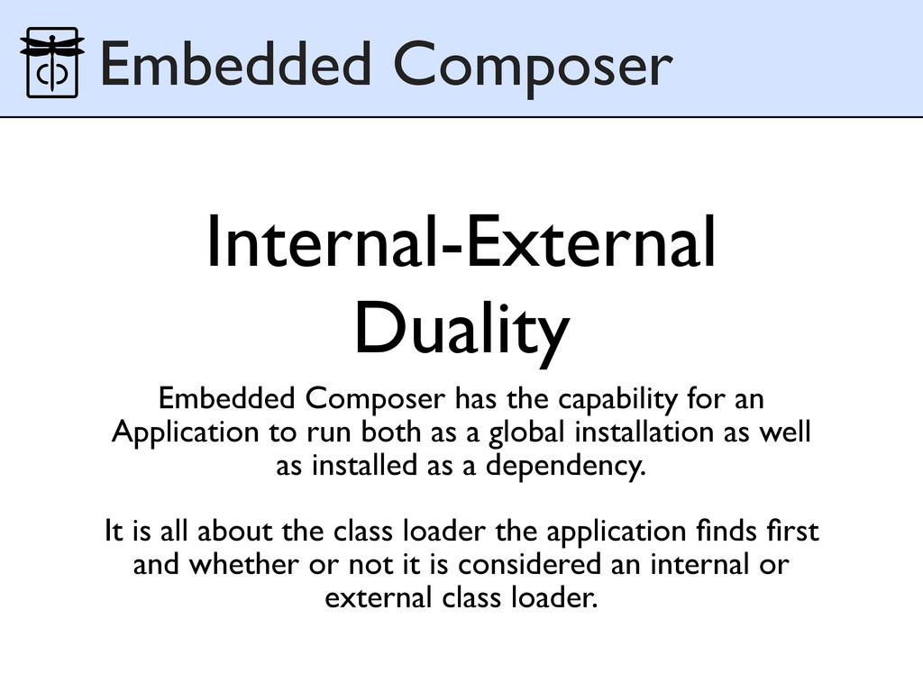 Internal-External Duality Embedded Composer has...