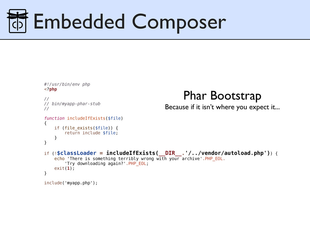 Embedded Composer Phar Bootstrap Because if it ...