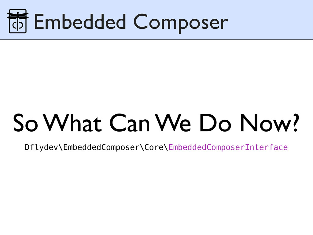 So What Can We Do Now? Embedded Composer Dflyde...