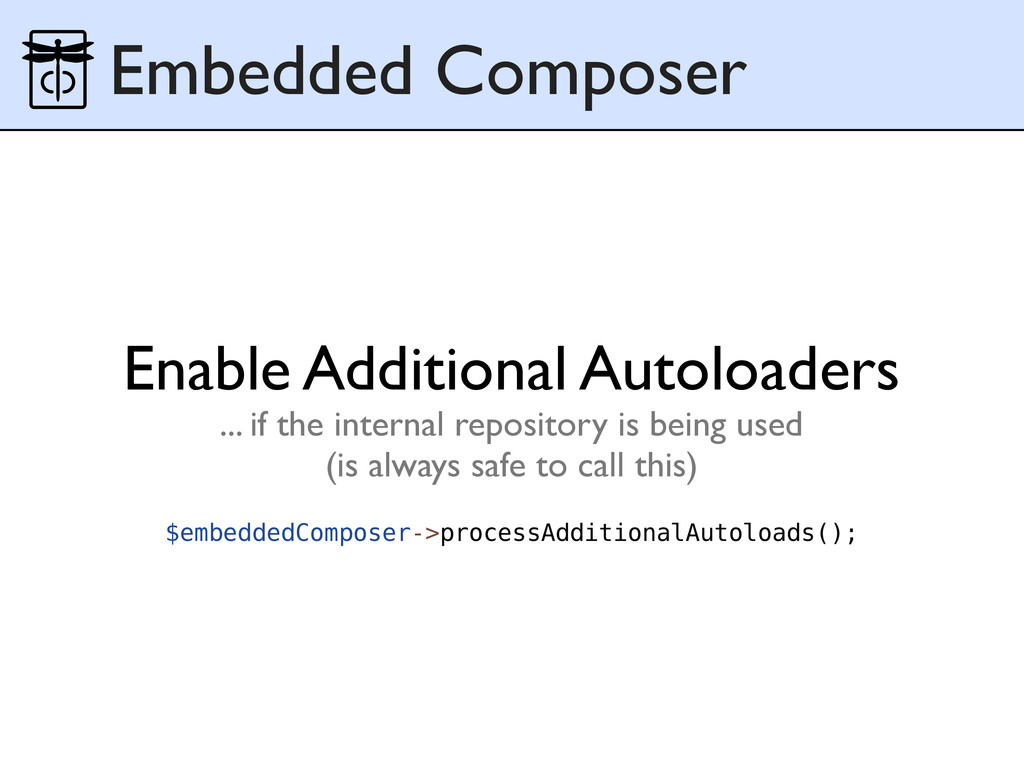 Embedded Composer $embeddedComposer->processAdd...