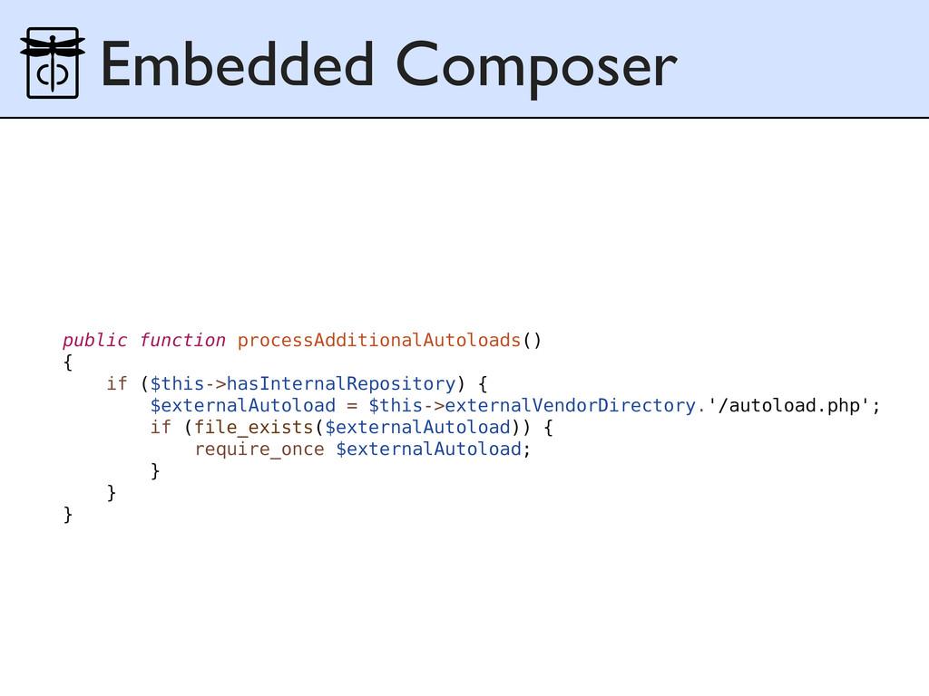 Embedded Composer public function processAdditi...