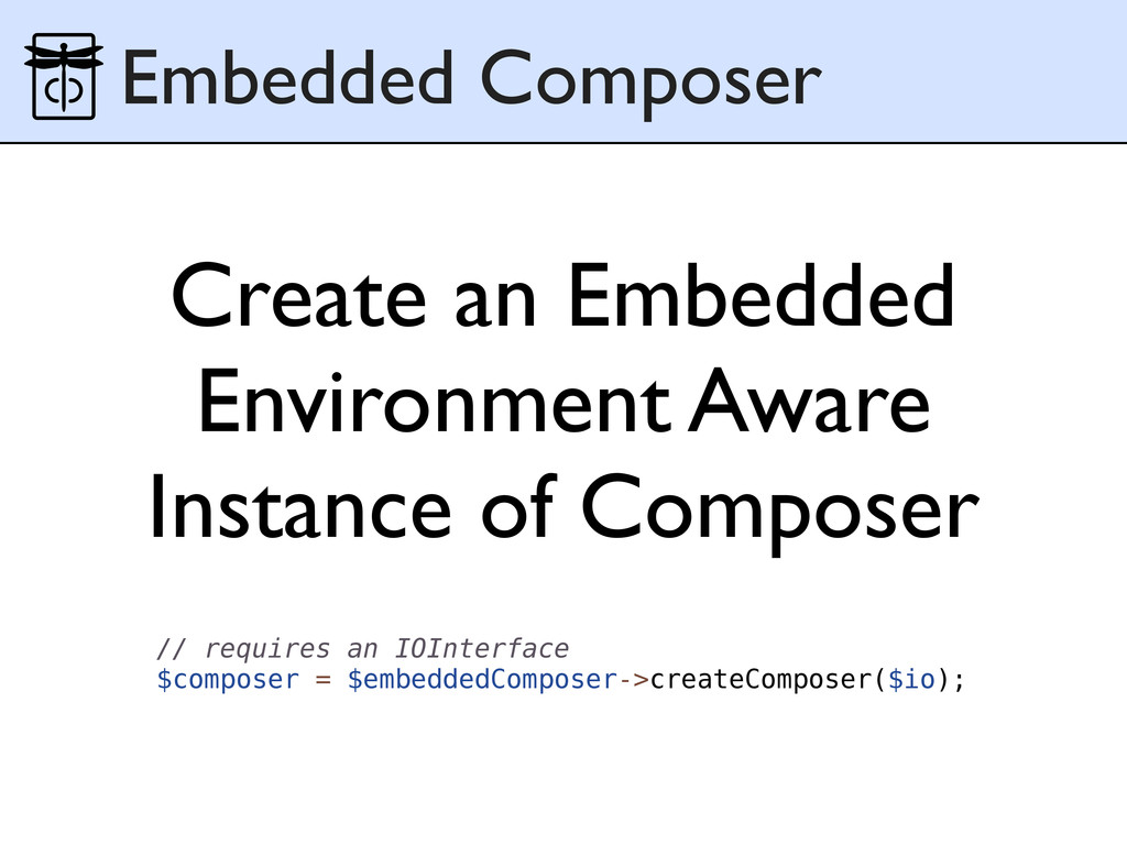 Create an Embedded Environment Aware Instance o...