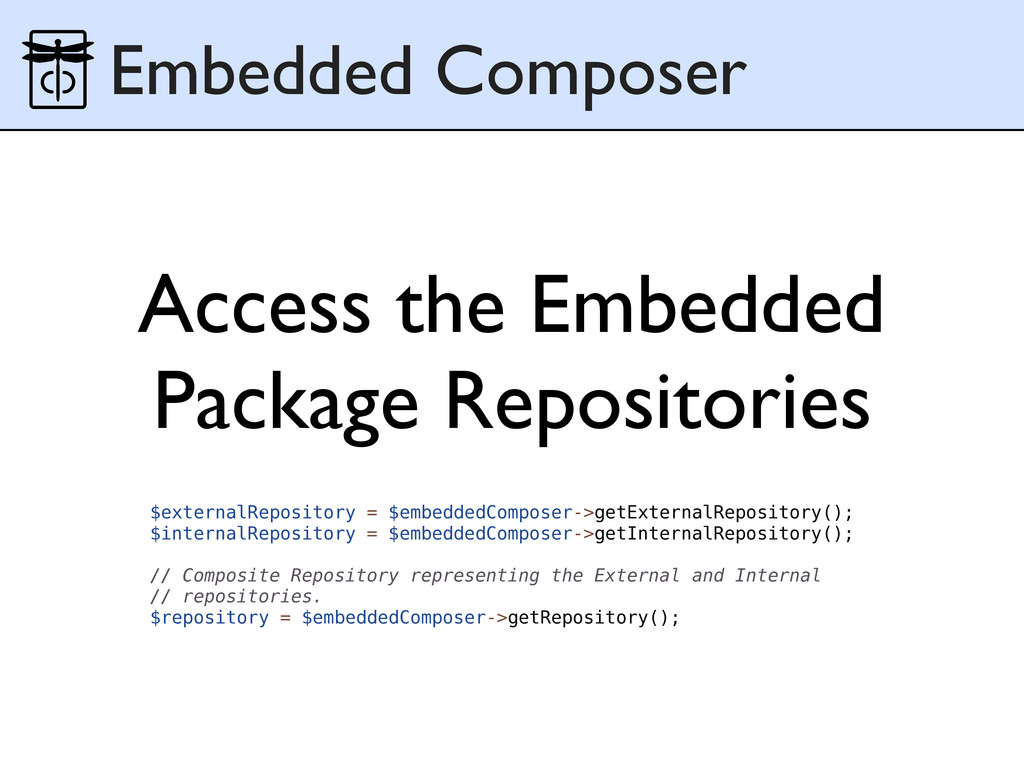 Access the Embedded Package Repositories Embedd...