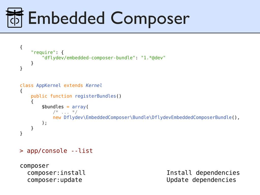 Embedded Composer class AppKernel extends Kerne...