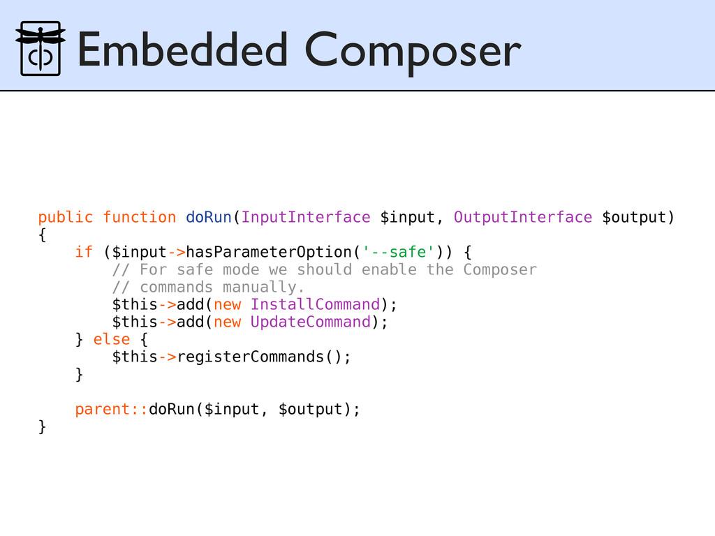 Embedded Composer public function doRun(InputIn...