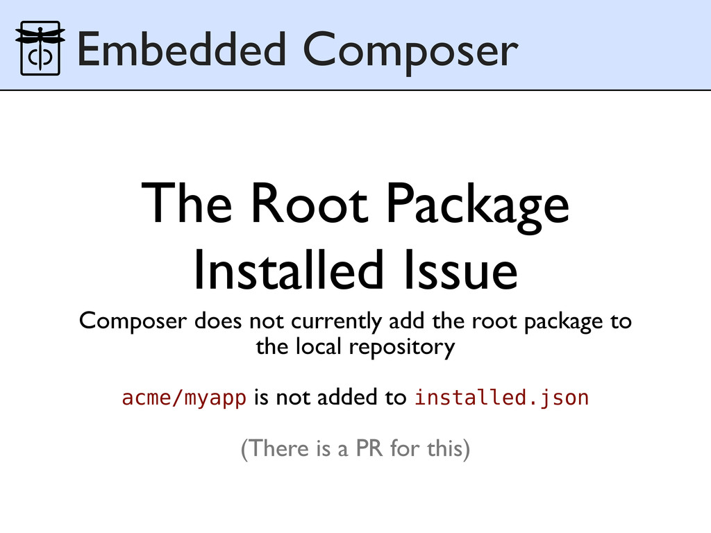 The Root Package Installed Issue Composer does ...