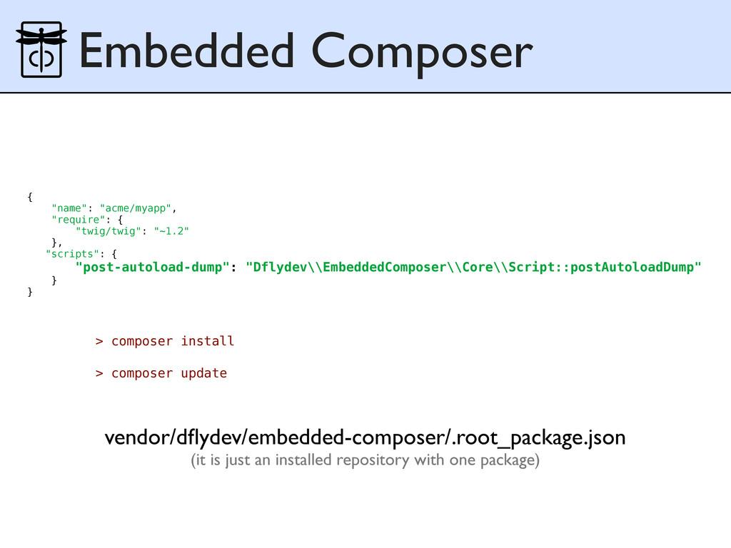 Embedded Composer vendor/dflydev/embedded-compos...