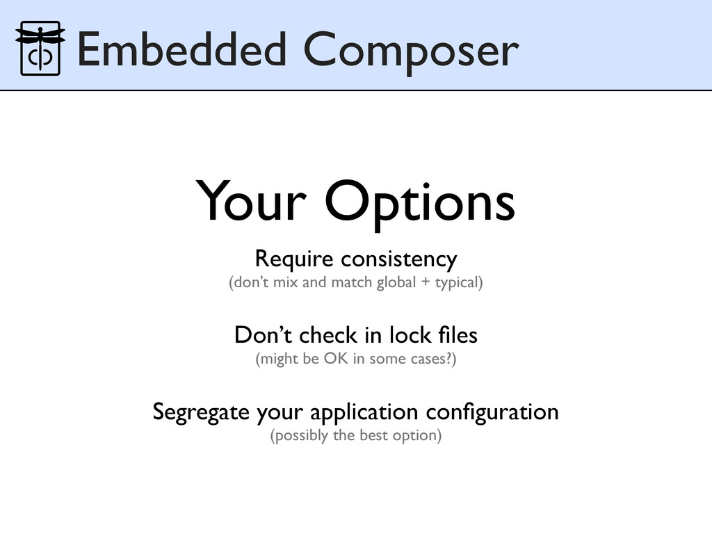 Embedded Composer Your Options Require consiste...