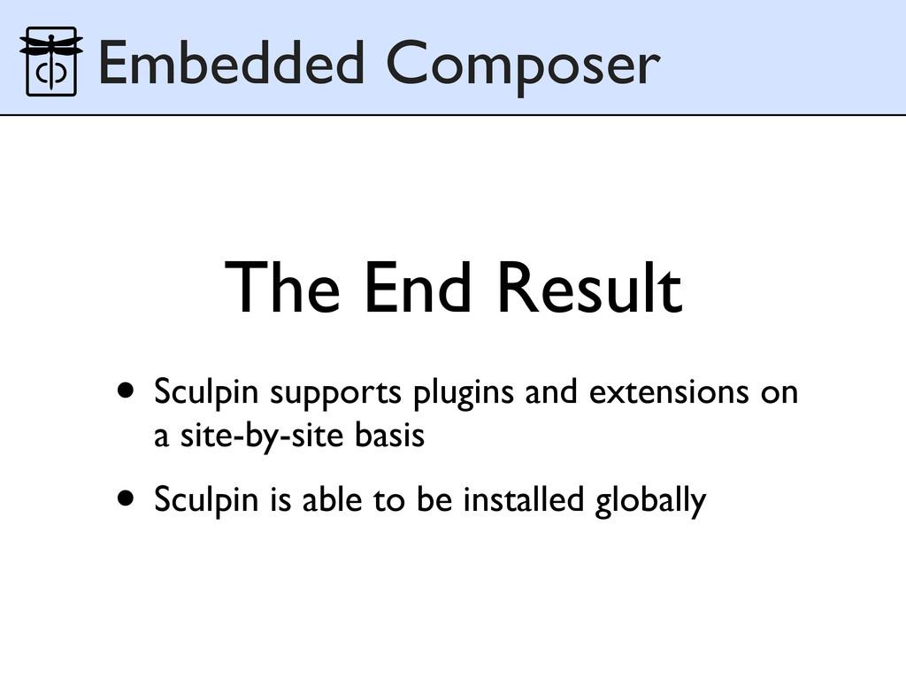The End Result Embedded Composer • Sculpin supp...