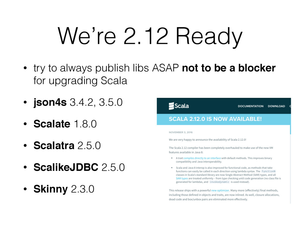 We're 2.12 Ready • try to always publish libs A...