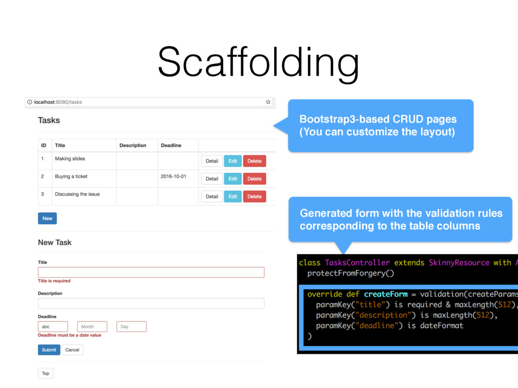 Scaffolding Bootstrap3-based CRUD pages (You ca...