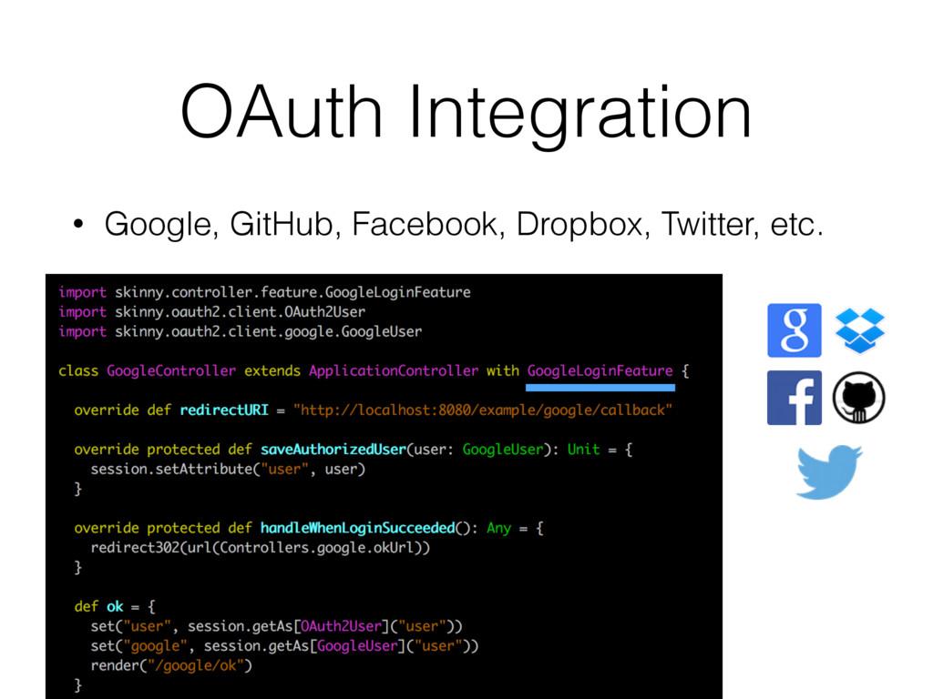 OAuth Integration • Google, GitHub, Facebook, D...
