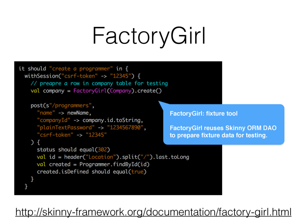 FactoryGirl FactoryGirl: fixture tool FactoryGir...