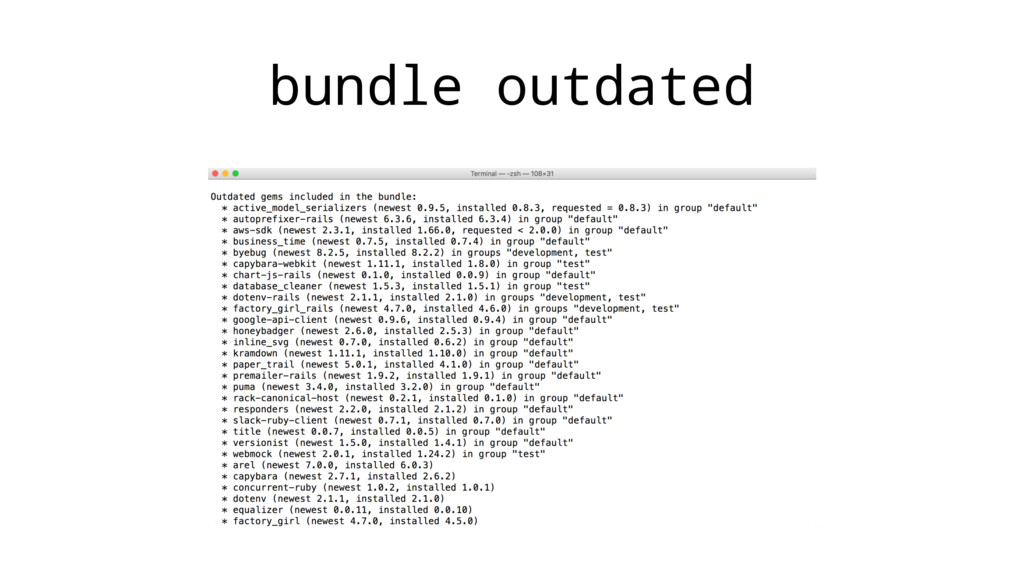 bundle outdated
