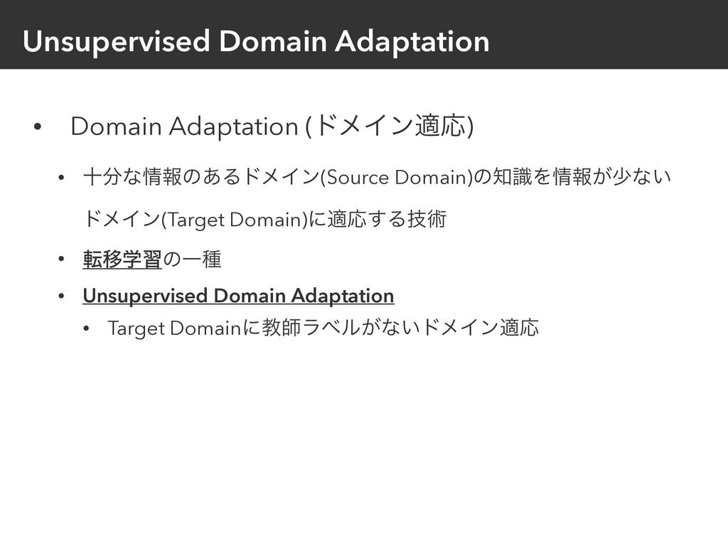Unsupervised Domain Adaptation • Domain Adaptat...