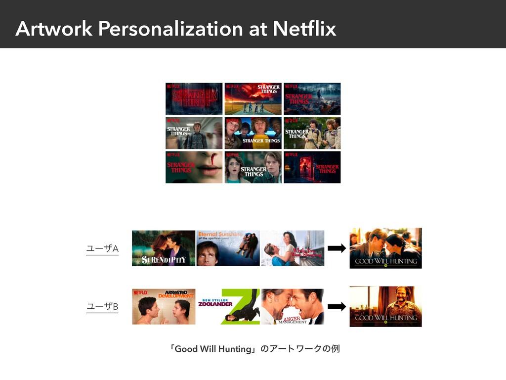 Artwork Personalization at Netflix  ϢʔβA ϢʔβB ʮ...