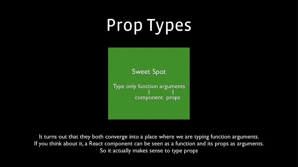 Prop Types Sweet Spot  ! Type only function a...