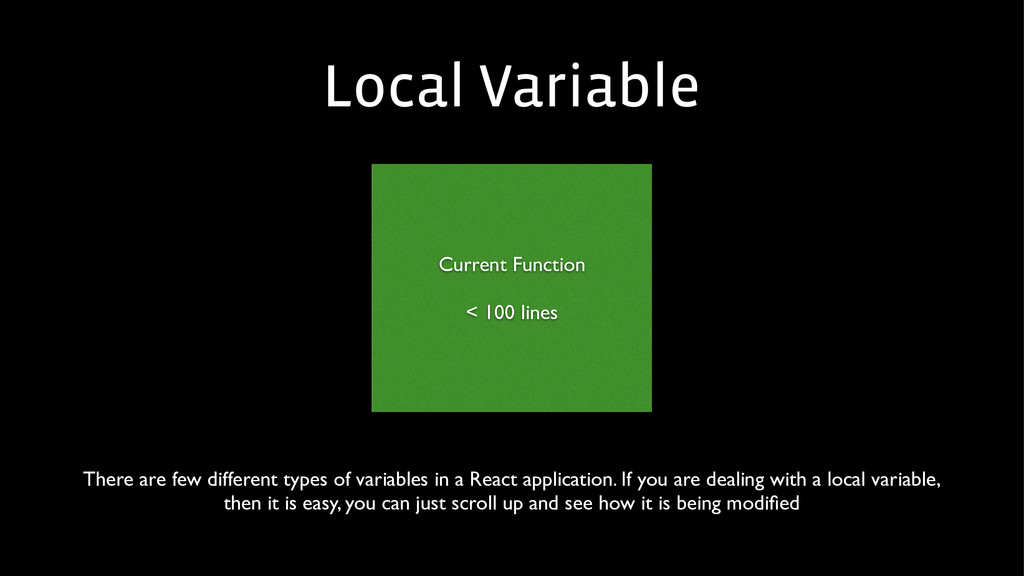 Local Variable Current Function  ! < 100 line...
