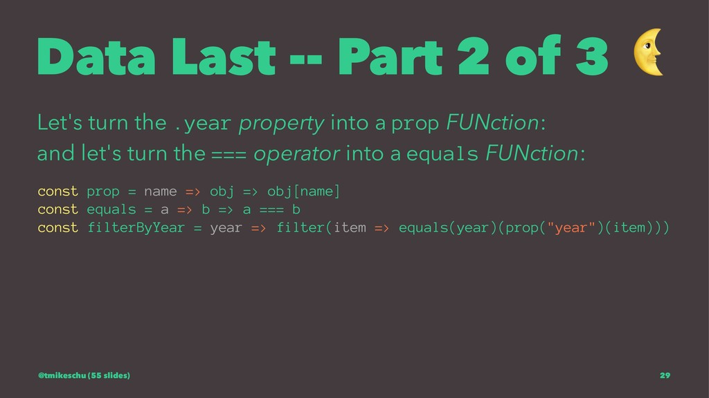 Data Last -- Part 2 of 3 Let's turn the .year p...