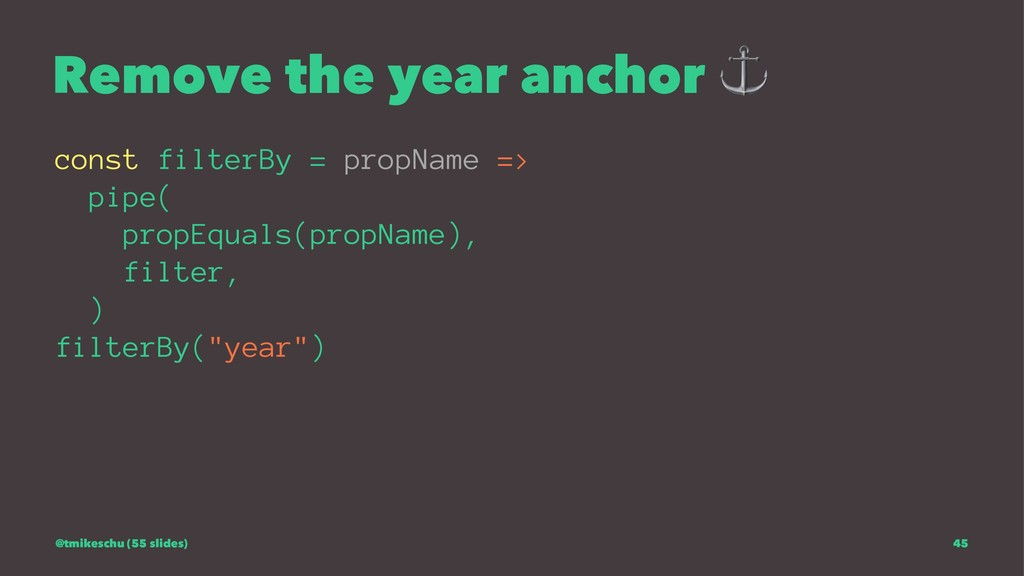 Remove the year anchor const filterBy = propNam...