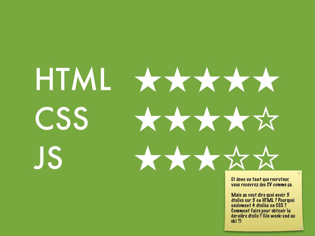 HTML  ★★★★★ CSS    ★★★★☆ JS     ★★★☆☆ ...