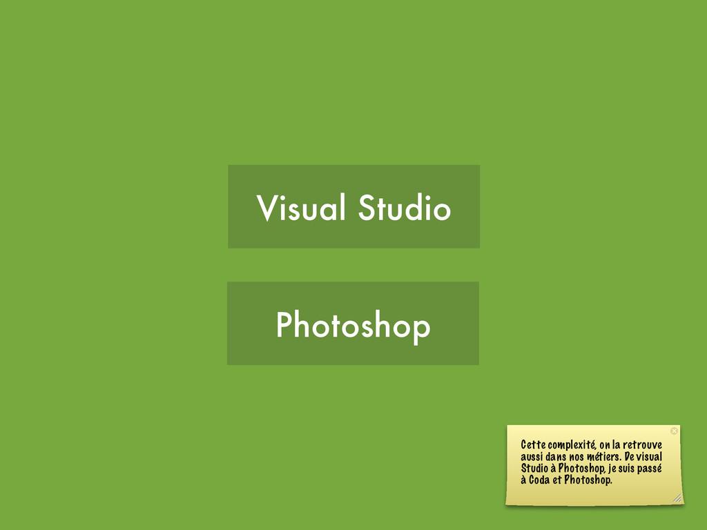 Visual Studio Photoshop Cette complexité, on la...