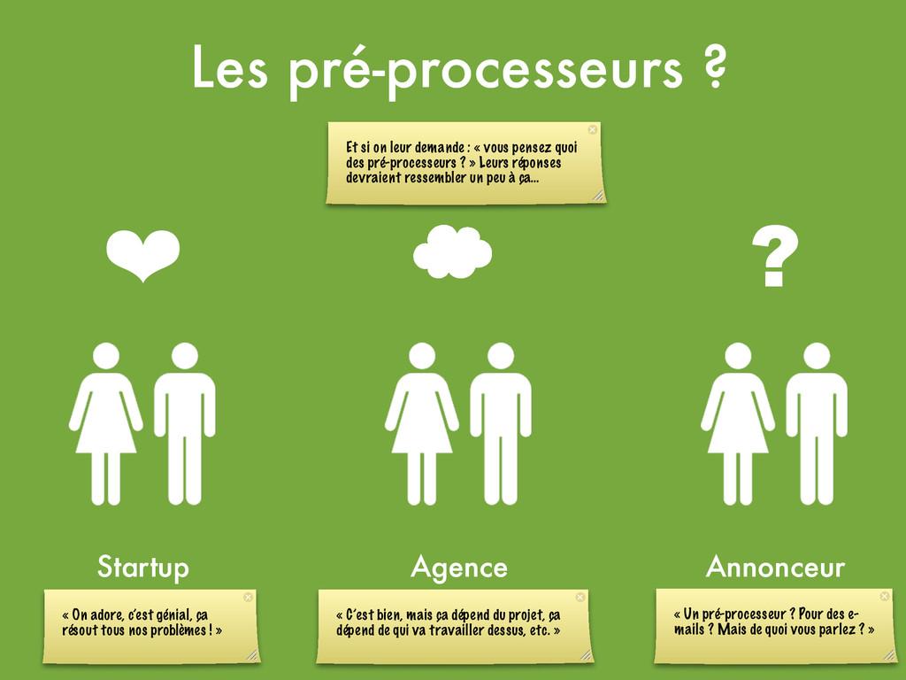 ❤ ' ? Les pré-processeurs ? Startup Agence Anno...