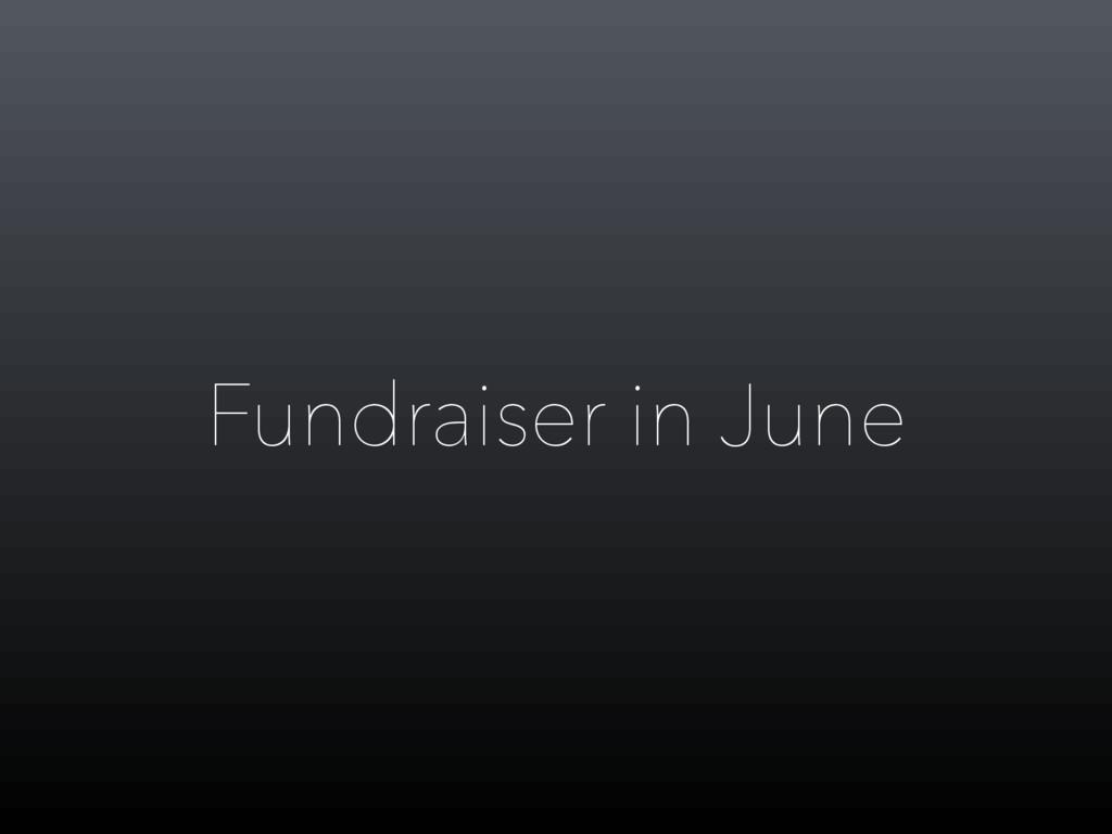 Fundraiser in June