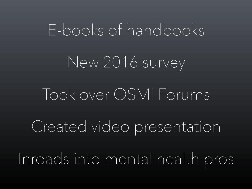 E-books of handbooks New 2016 survey Took over ...