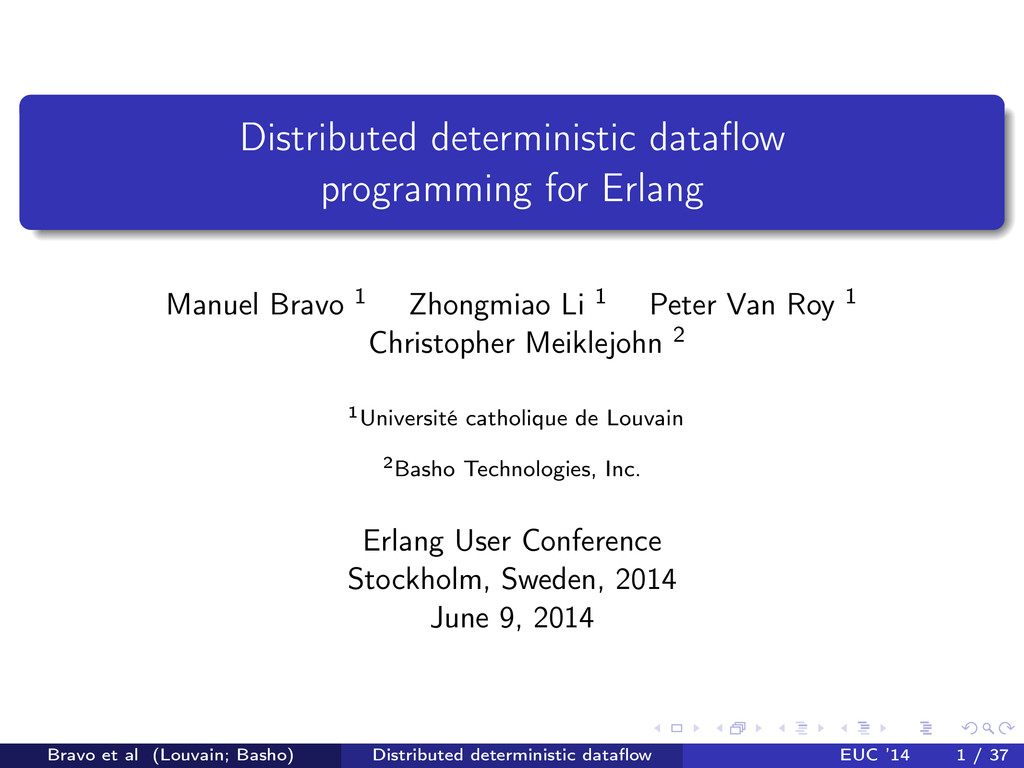 Distributed deterministic dataflow programming f...