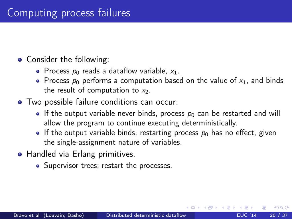 Computing process failures Consider the followi...