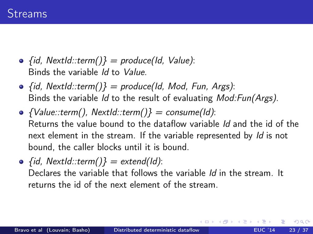 Streams {id, NextId::term()} = produce(Id, Valu...