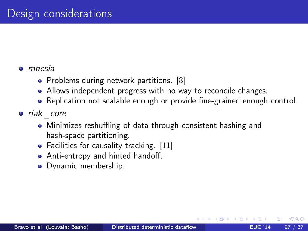 Design considerations mnesia Problems during ne...