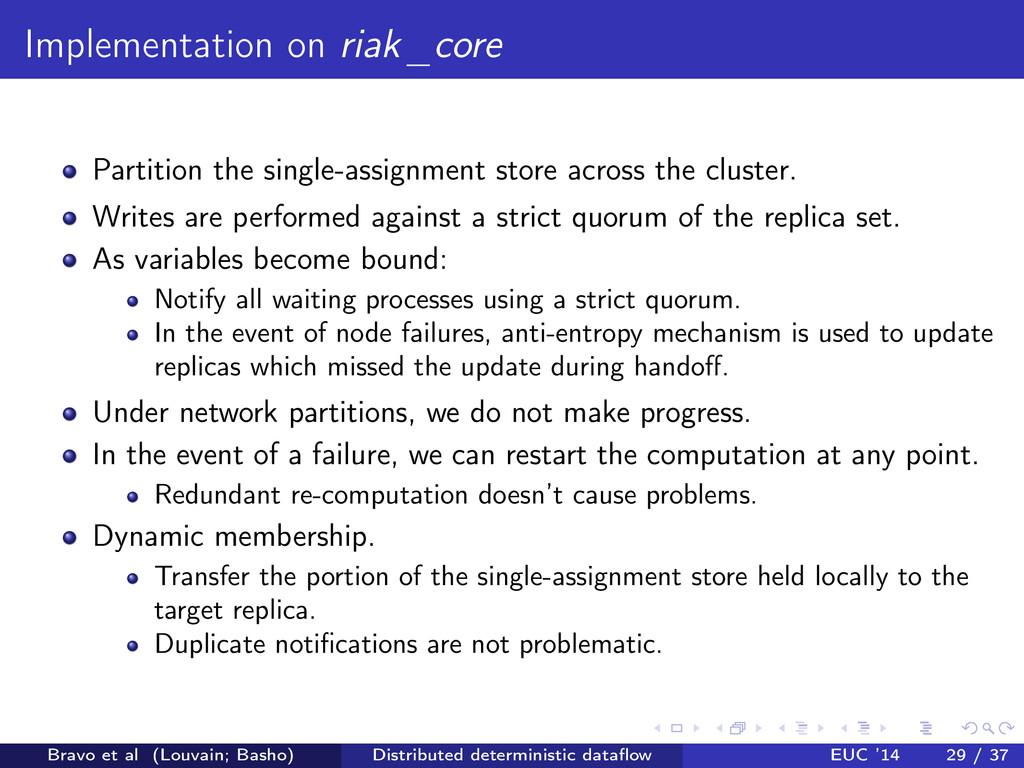 Implementation on riak _ core Partition the sin...
