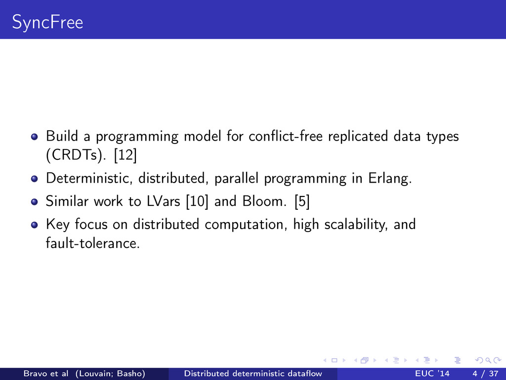 SyncFree Build a programming model for conflict-...