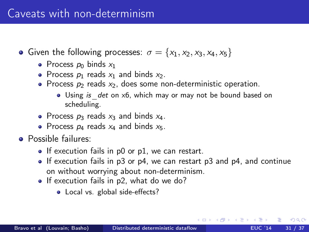 Caveats with non-determinism Given the followin...