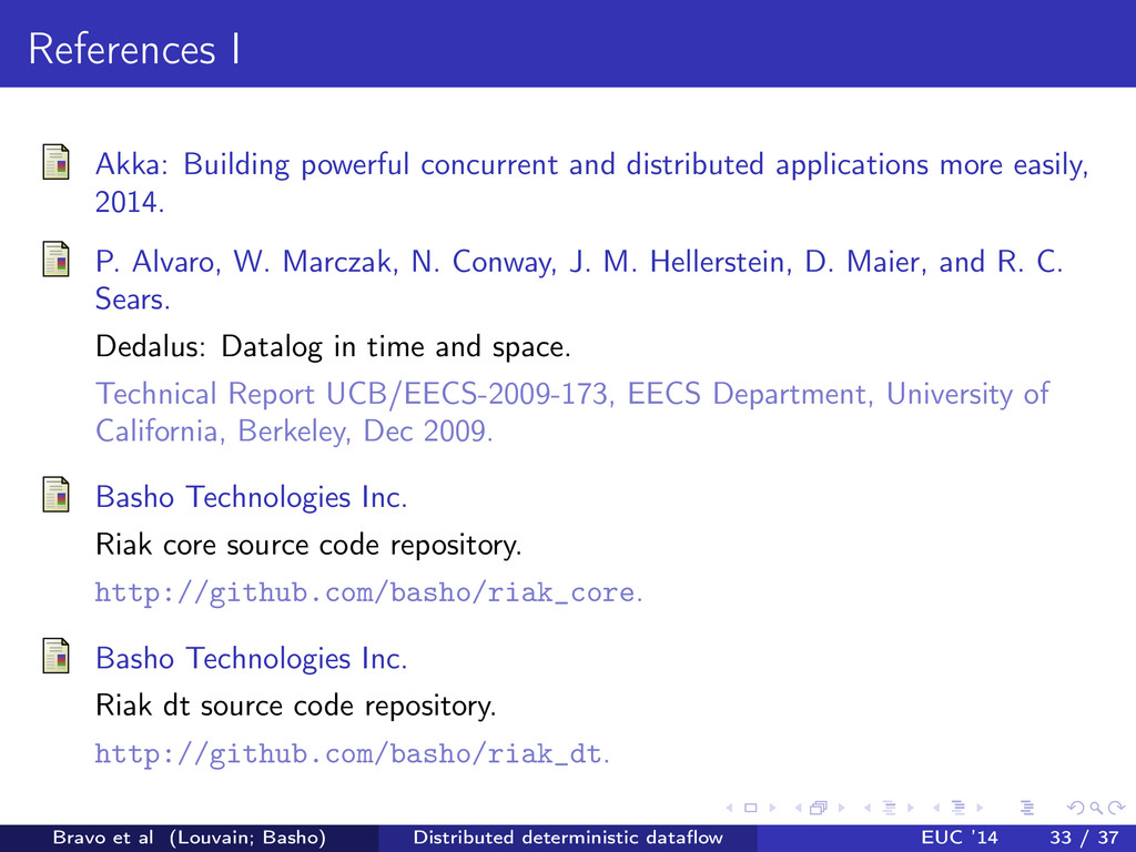 References I Akka: Building powerful concurrent...