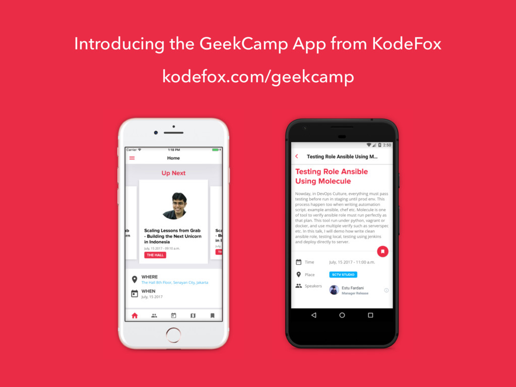Introducing the GeekCamp App from KodeFox kodef...