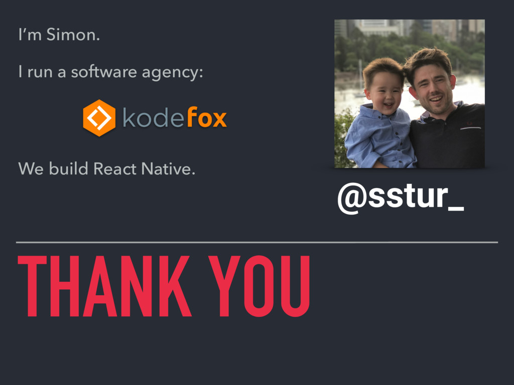 THANK YOU @sstur_ I'm Simon. I run a software a...