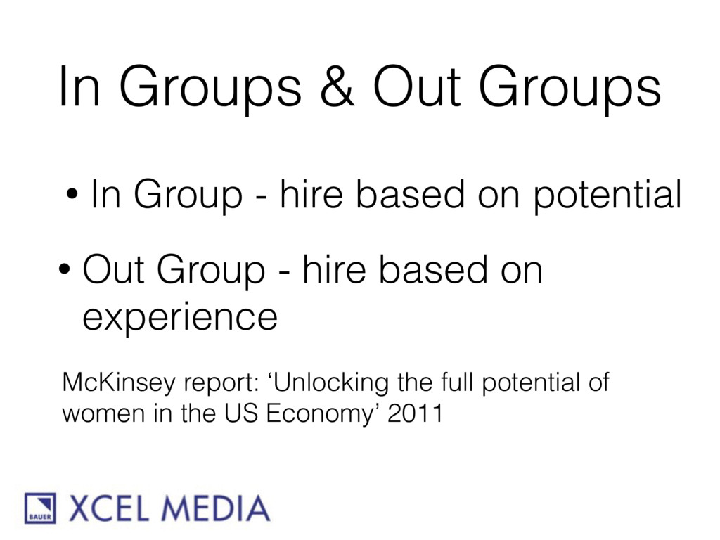 In Groups & Out Groups • In Group - hire based ...
