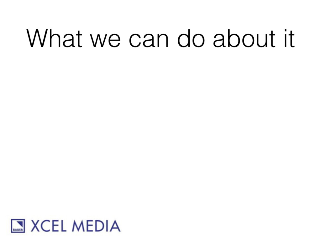 What we can do about it