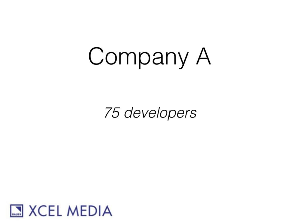 Company A 75 developers